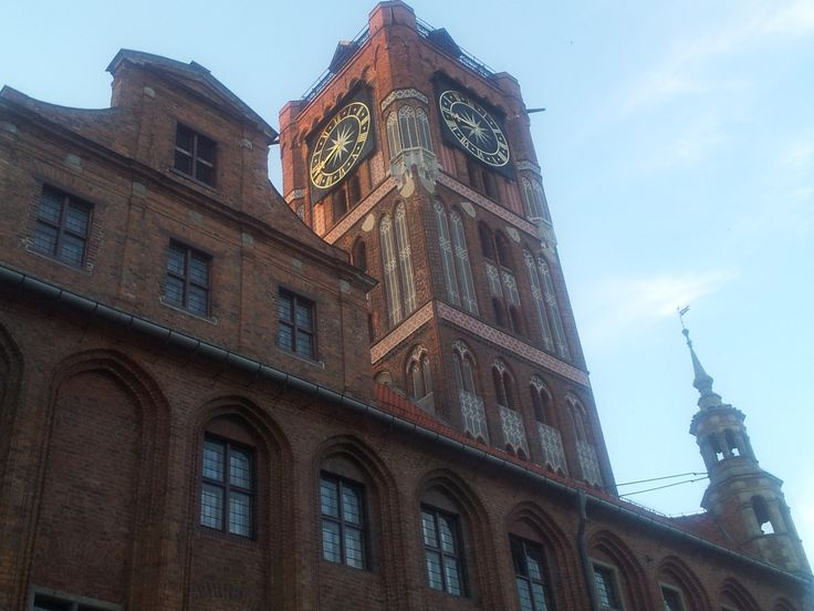 Det smukke gamle rådhus i Torun