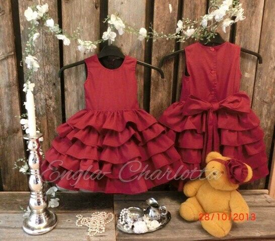 Hey, I found this really awesome Etsy listing at https://www.etsy.com/listing/166700571/dark-red-flower-girl-dress-toddler-girls