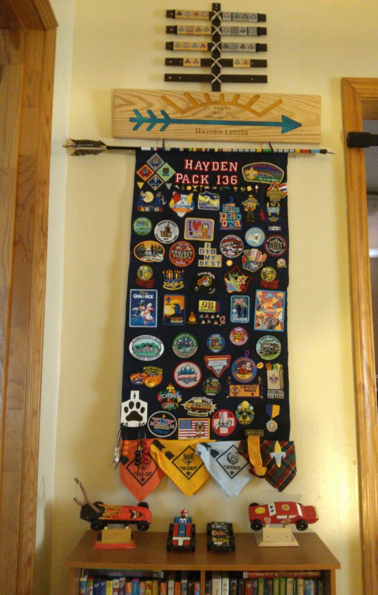 Arrow of Light, Webelos, Cub Scout Belt Loop Display, Cub Scout Patch Display.