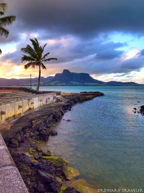 Lion mountain - Mahebourg waterfront in the south east of Mauritius