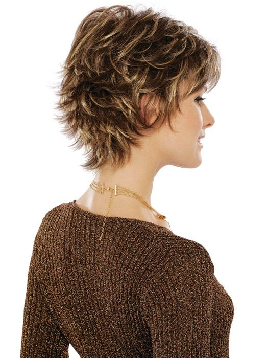 Layered Hairstyles Women Over 50 | Similar Design: Layered Pixie Wigs For Women Over 50