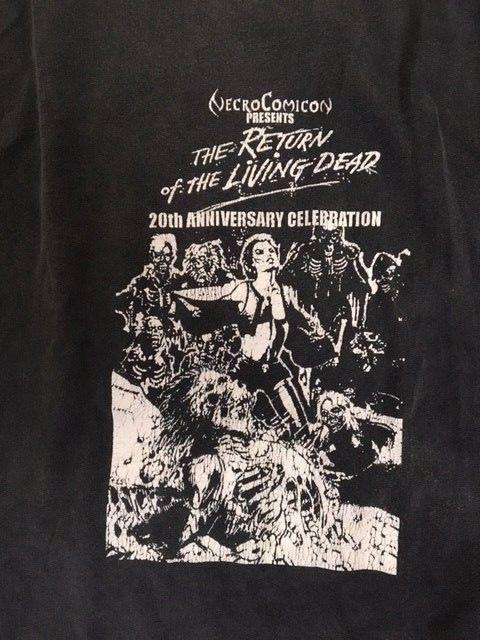 VINTAGE 90'S RETURN OF LIVING DEAD SHIRT NECRO COMIC CON RARE LTD PUNK ROCK XL #VINTAGE #BasicTee