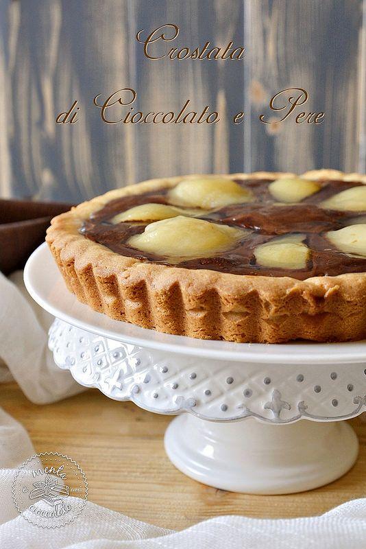 Menta e Cioccolato: Crostata di Cioccolato e Pere con frolla di albumi (Videoricetta)