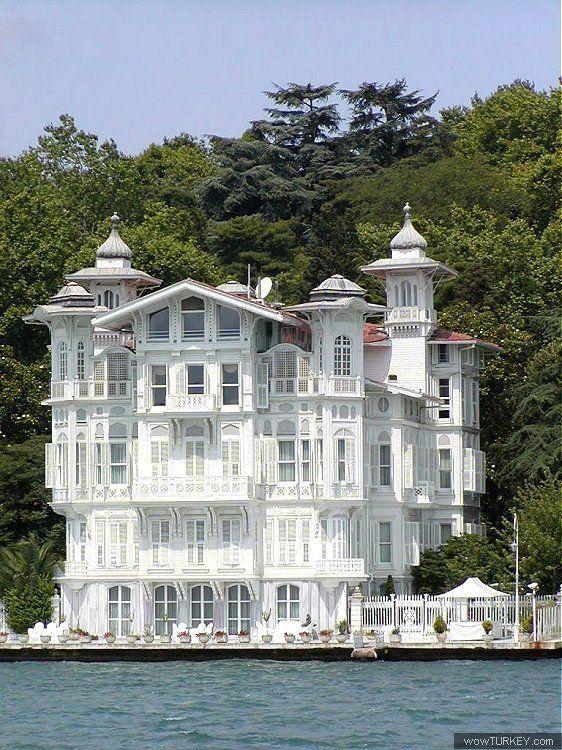 Ahmet Afif Paşa Yalısı (Waterfront Mansion) | Istanbul, Turkey. Built between 1900 - 1910. Architect : Alexandre Vallaury