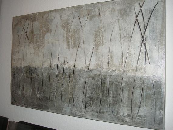abstraktes bild acrylmalerei in 50x80cm linie und struktur original leinwand grau beige abstract painting acrylic canvas abstrakte malerei geometrische formen acrylbilder rot abstrakt