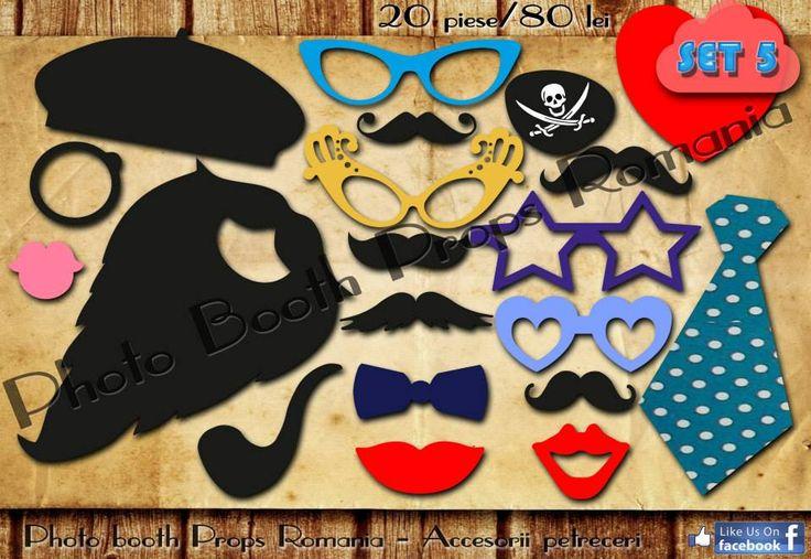 Propspuri pentru petrecere Set 5  20 de piese 80 lei Vizitati pagina de facebook https://www.facebook.com/PhotoPropsBucuresti