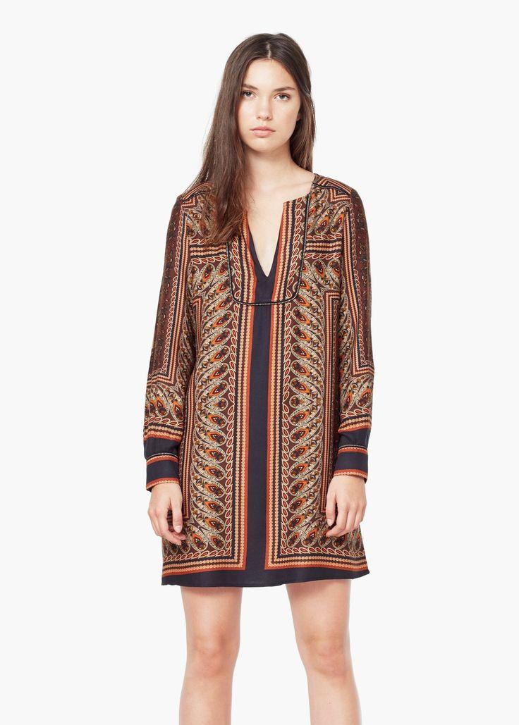 Sukienka wzór paisley | MANGO