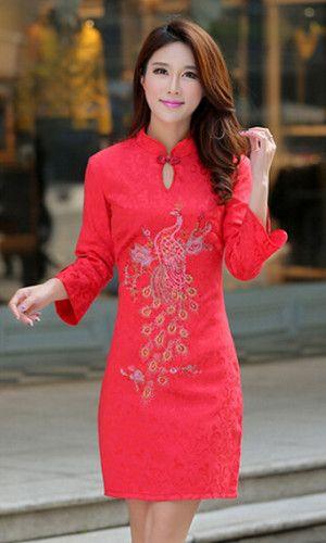 Red Mandarin Collar kurti  #kurti, #redkurti, #madarincollar, #printedkurti