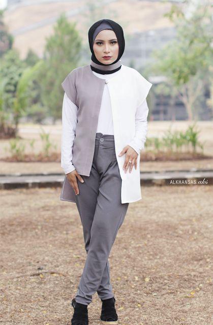 Elegant &  Chic Hijab Style using Outwear #HijabInspiration #Hijab #Hijabi #HijabFashion #HijabBlogger #HijabOutfit #HijabTutorial