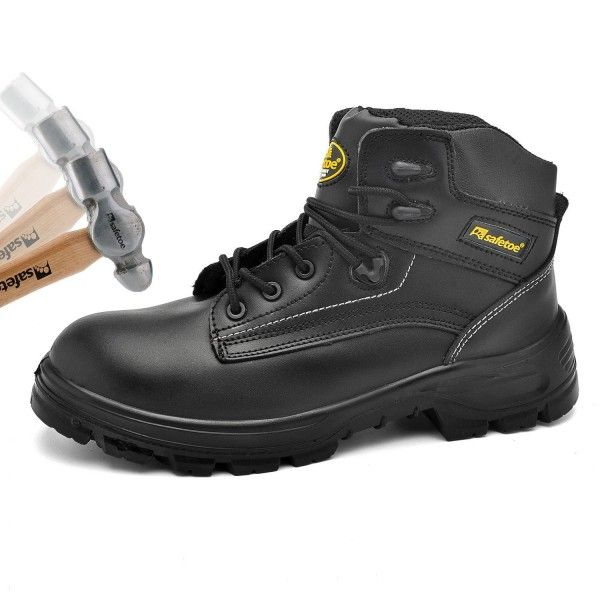 Mens Safety Boots Work Shoes M8356b Black Waterproof Leather Work Boots Steel Toe Safety Shoes Black Ca1857hh9lo Steel Toe Safety Shoes Leather Work Boots Safety Shoes