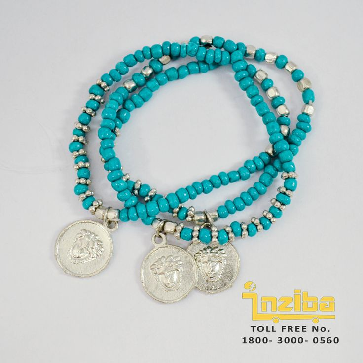 To Order visit https://www.inziba.org/promotion/shop/bracelets/romanian-turquoise-bracelet/ Free COD/ Shipping in Delhi only   A summer bracelet for lazy casual days for the colourful you. Enhance your wardrobe collection with this simple yet trendy bracelet and leave your mark wherever you go.