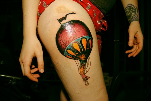 best 25 air balloon tattoo ideas on pinterest balloon tattoo color tattoo and compass tattoo. Black Bedroom Furniture Sets. Home Design Ideas