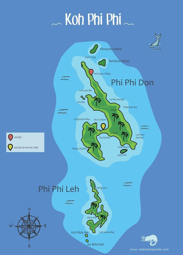 Mapa De Phi Phi Asia Destinations With Images Phi Phi Island