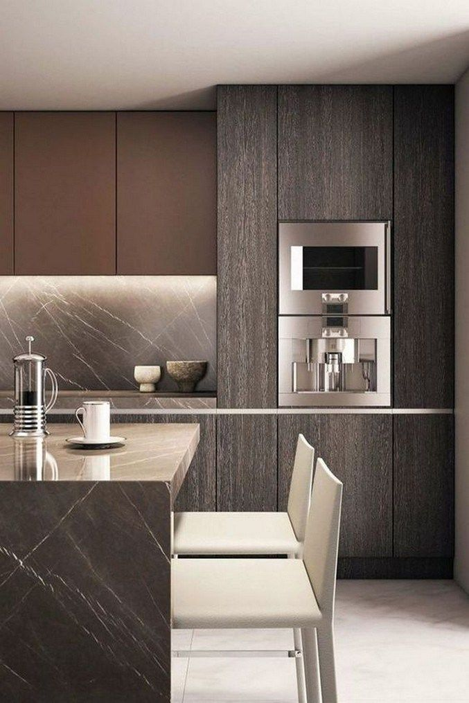 76 Inspiring Modern Contemporary Kitchen Design Ideas 32 In 2020 Contemporary Kitchen Design Contemporary Kitchen Modern Farmhouse Kitchens