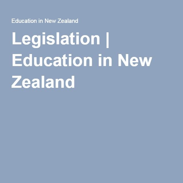 Legislation | Education in New Zealand