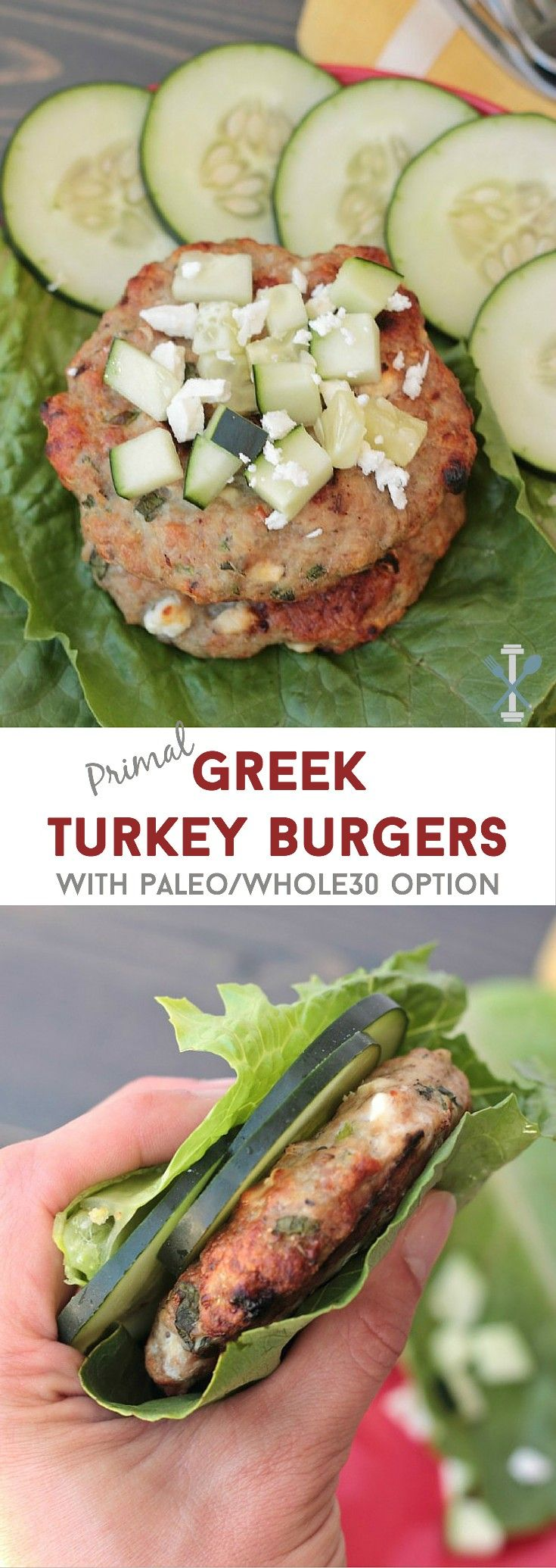 These primal Greek turkey burgers are the perfect lean burger - packed with… (Ketogenic Recipes Turkey)