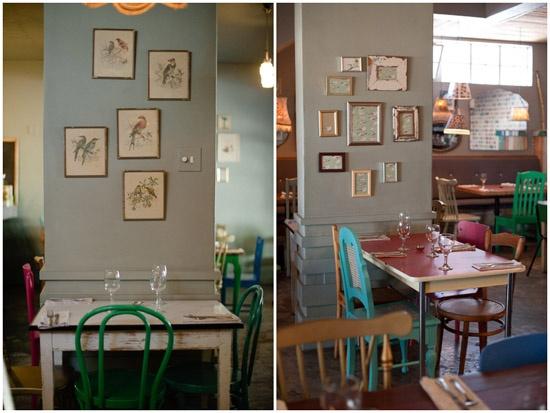 colors - blue-grey/kelly green/mocha/turq  // Poppytalk: The Woodlands Eatery