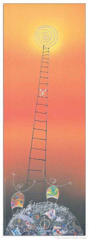 MELONISKY DA VILLACIDRO - VERSO IL SOLE - serigrafia retouchè - 55 x 120 cm