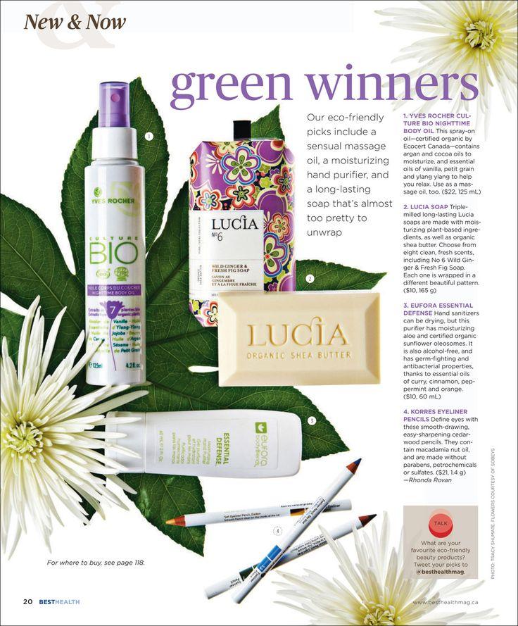 Green Winners, January/February 2011 issue, Best Health Magazine