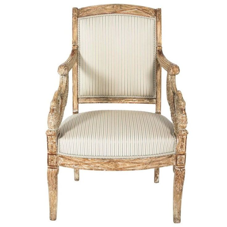 Early 19th Century French Empire Chair | From a unique collection of antique and modern armchairs at https://www.1stdibs.com/furniture/seating/armchairs/