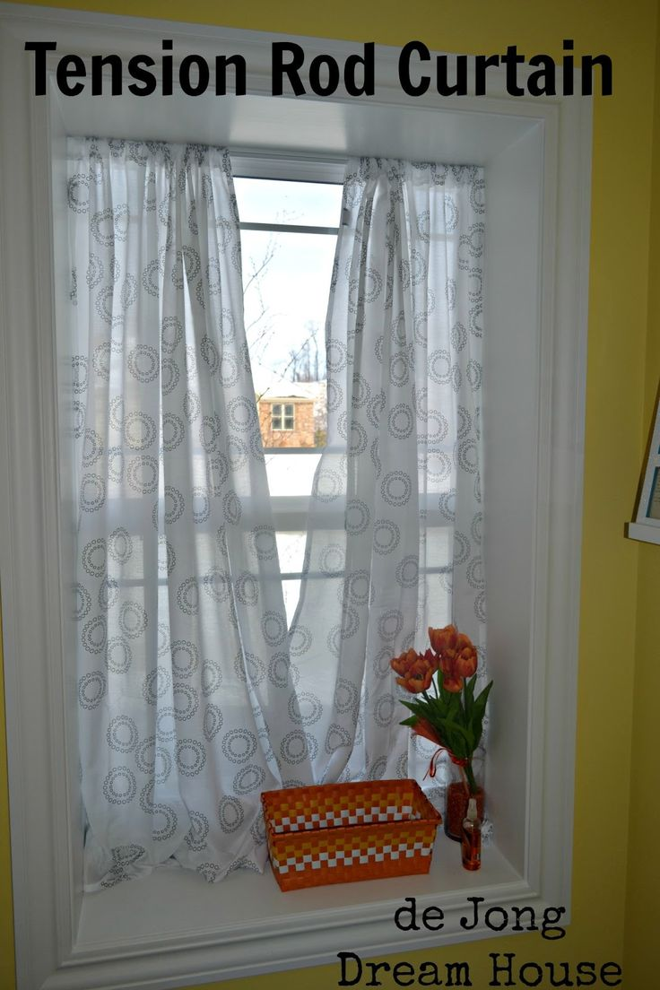 Inside house windows with curtains - De Jong Dream House Tension Rod Curtain In Deep Window Sill Tension Rod