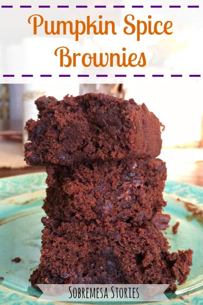 Easy Pumpkin Spice Brownies Recipe - Sobremesa Stories