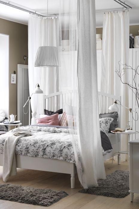Tyssedal Bed Frame White Clothing Storage Fabrics And
