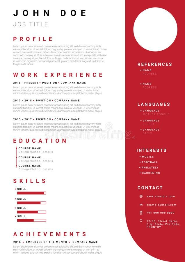 Modern Cv Resume Template Modern Cv Or Resume Template With Minimalist Red Colo Sponsored Advertisement Spo Resume Template Modern Cv Cv Resume Template