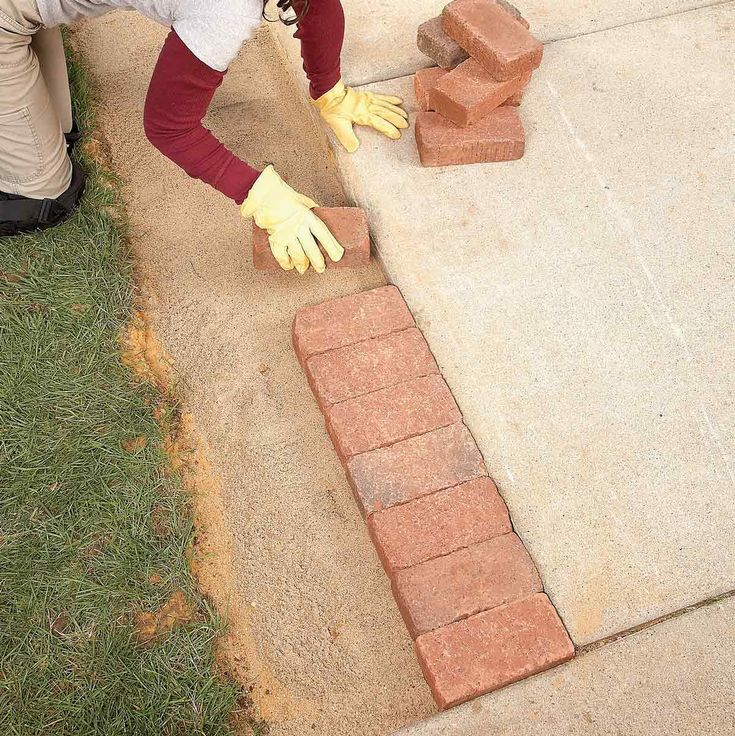 Use Brick Borders For Path Edging Brick Border Path