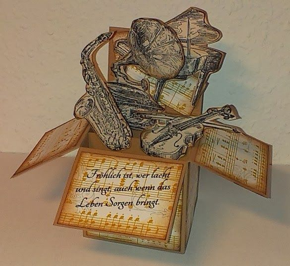 "Mamapias-Stempelecke: Card-in-a-box ""Musik"""