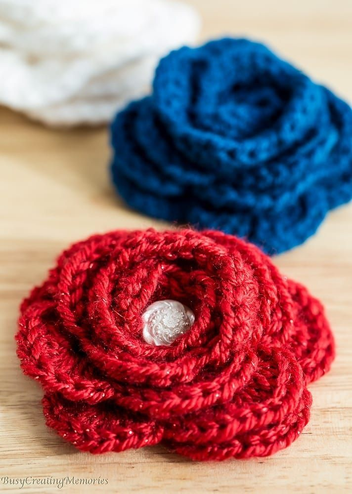 Free Easy Crochet Rose Pattern And Video Tutorial Crochet Flowers