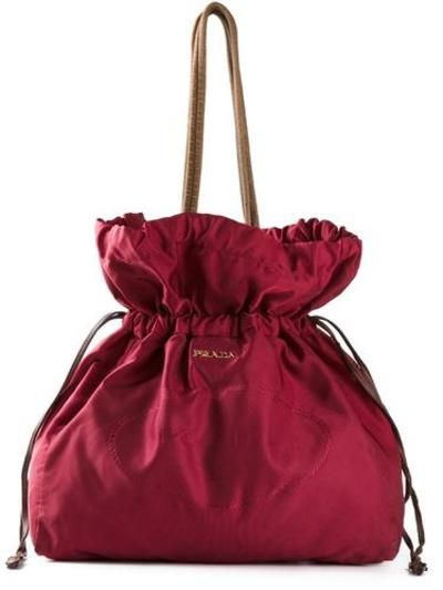 PRADA VINTAGE drawstring bag #pradabag #prada #designer #covetme