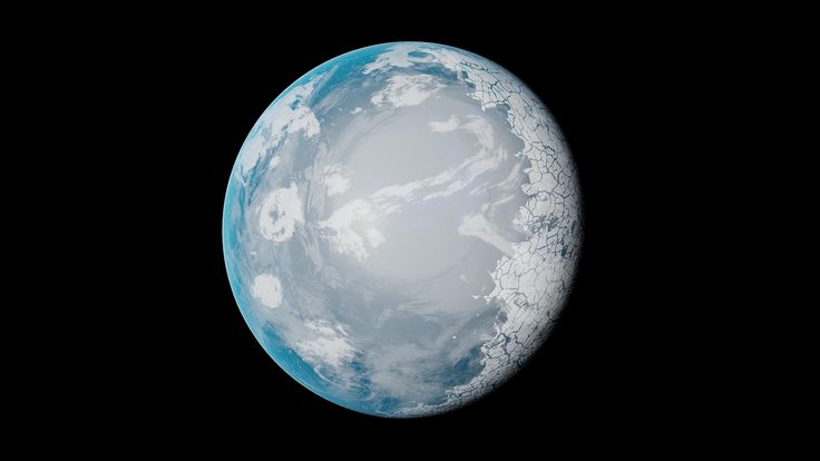 It is approximately 62% the mass of the Earth, but only slightly smaller in radius (92%), making it a bit smaller than Venus. Its density is only 80% of Earth's, suggesting an iron core and silicate rocky mantle composition similar to Earth, but with more water/ice or other lighter elements. It receives only 66% of the solar irradiance that Earth does, giving it a mean surface temperature of 251 K (-22°C).