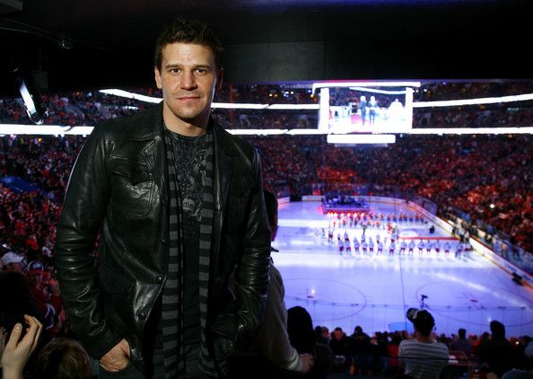 David Boreanaz Photos Photos - David Boreanaz attends the NHL All Star Game at Bell Centre on January 25, 2009 in Montreal, Canada. - Celebrities Attend NHL All Star Game