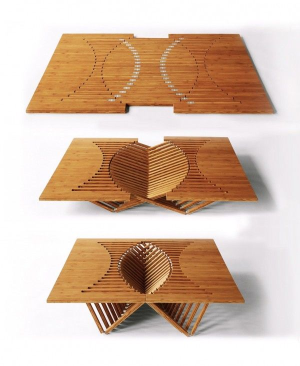 This Flat Sculpture Transforms Into A Table Before Your Eyes!