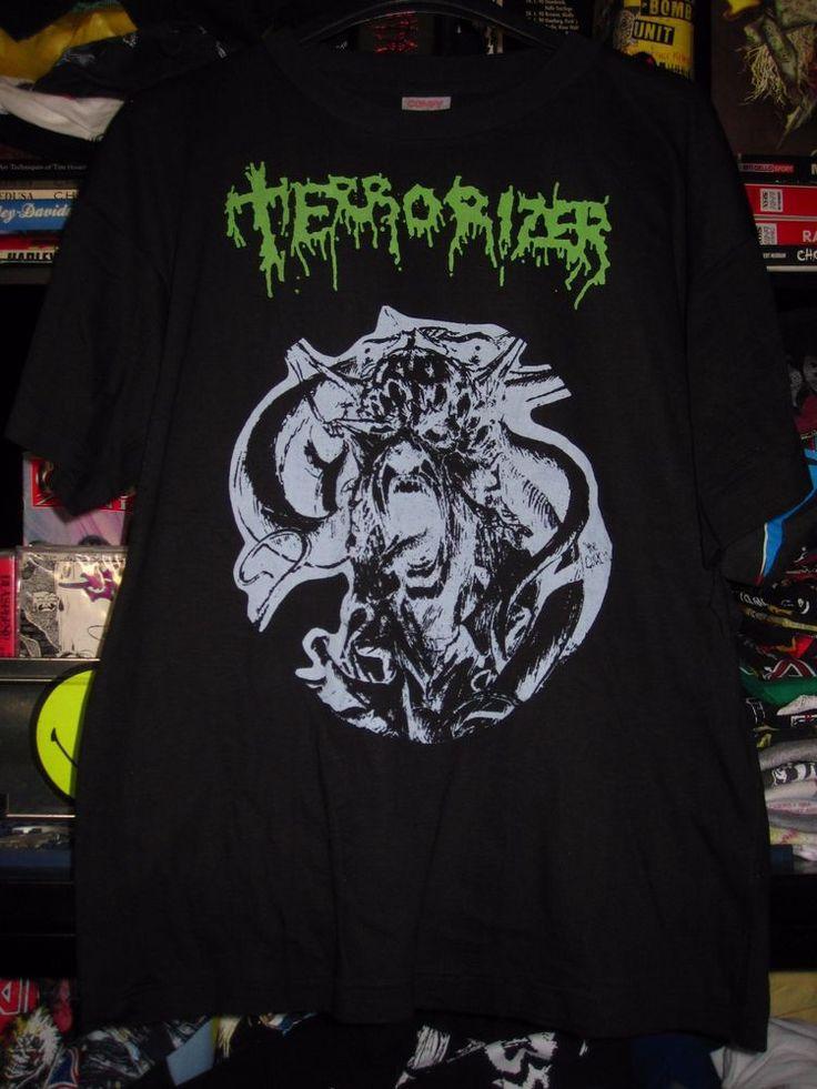 TERRORIZER shirt L IMPETIGO REPULSION NAPALM DEATH CARCASS NAUSEA AGATHOCLES | eBay