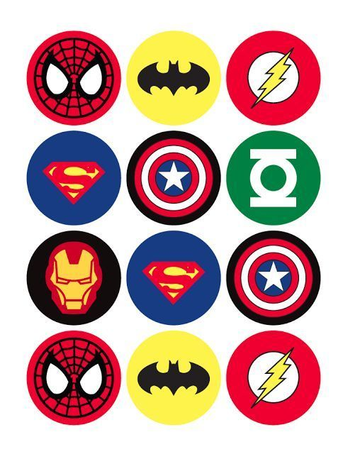 Aquí te pongouna imagen si deseas imprimirla para más cosas en tu fiesta de superhéroes