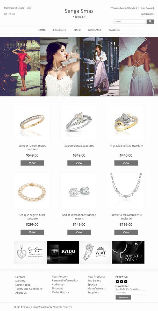 Jewelry HomePage Design