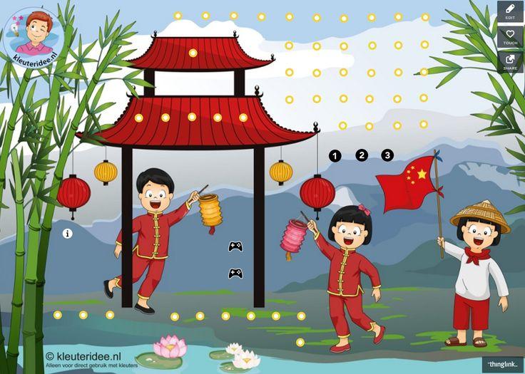 Interactieve praatplaat by Petra v Ginkel van kleuteridee, thema China, met veel informatieve video's over China