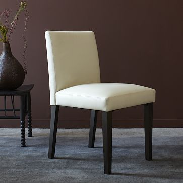 porter leather dining chair ivory westelm leather dining table