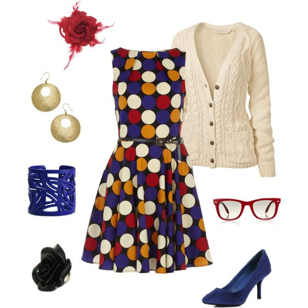 Carnival: Outfit Features, Multicolored Polkadot, Fashion Forward, Dresses, Bright Blue, Blue Shoes, Features Multicolored, Casual Wear, Pinterest