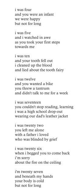 At first I thought this was really sweet and about a couple of normal siblings. Then I continued reading and now I'm crying.