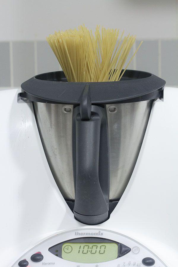 Cómo cocer espaguetis en Thermomix