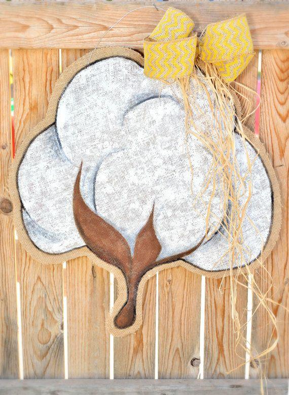 Cotton Burlap Door Hanger by stackhouseLA on Etsy, $30.00
