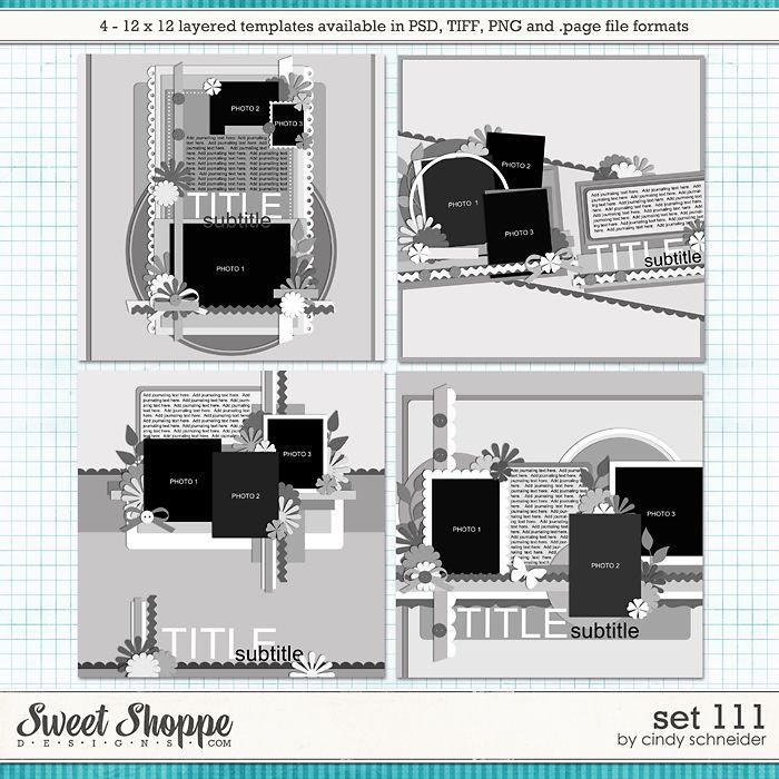 Cindy's Layered Templates - Set 111 by Cindy Schneider