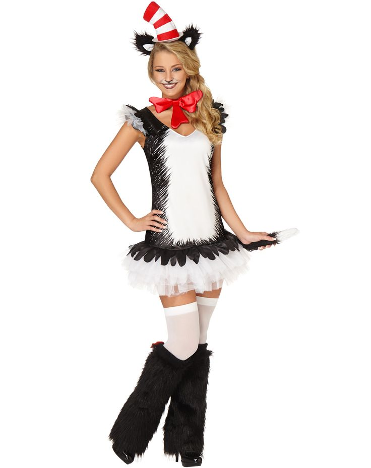 Cat in the Hat Dress Adult Womens Costume – Spirit Halloween $49.99