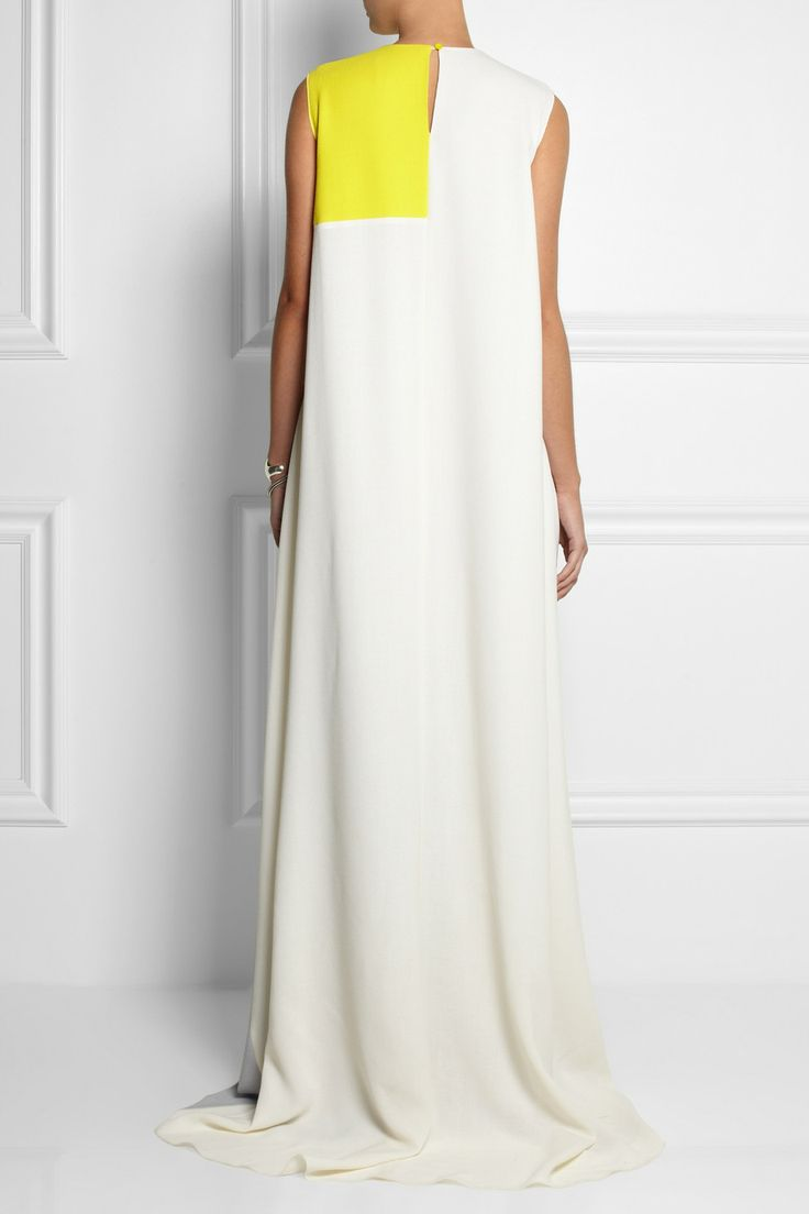 Roksanda Ilincic Color-block double wool-crepe gown NET-A-PORTER.COM