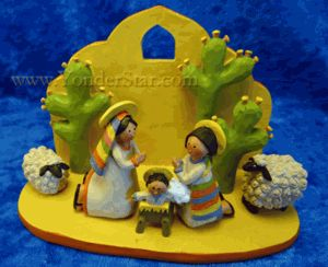 Hispanic Nativity Scene