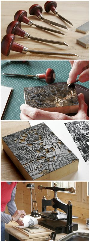 Wood Engravings & Linocuts: Wood Engraving