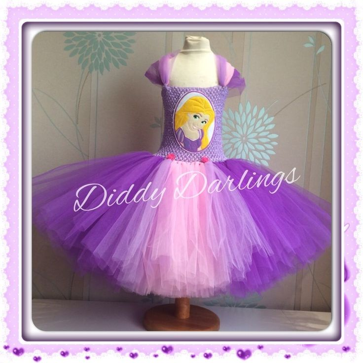 Rapunzel Tutu Dress Party Fancy Dress Christmas Play New Tangled Dress Purple #DiddyDarlings #CasualFormalParty
